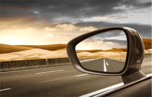 reading financial reports is like looking in a rear view mirror