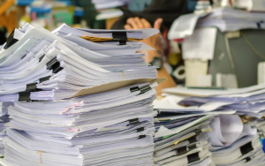 accounting cleanup removes the piles from your office